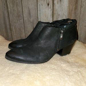 Franco Sarto Granite black booties 9.5 M